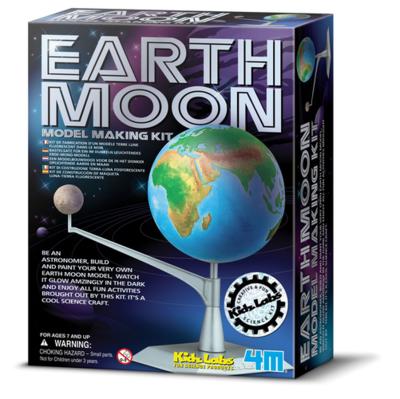 KIDZ LABS EARTH-MOON MODEL MAKING KIT 4M
