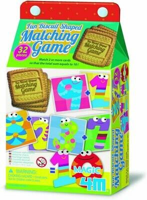 FUN BISCUIT SHAPED MATCHING GAME MAGIC 10 4M