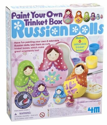 Paint Your Own Trinket Box Russian Dolls 4M