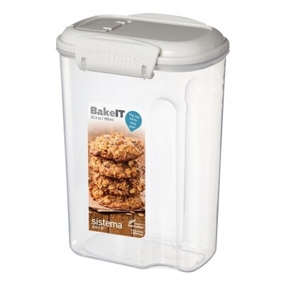 RECIPIENTE 985ML BAKEIT MINI 12X8.7X17.2CM SISTEMA