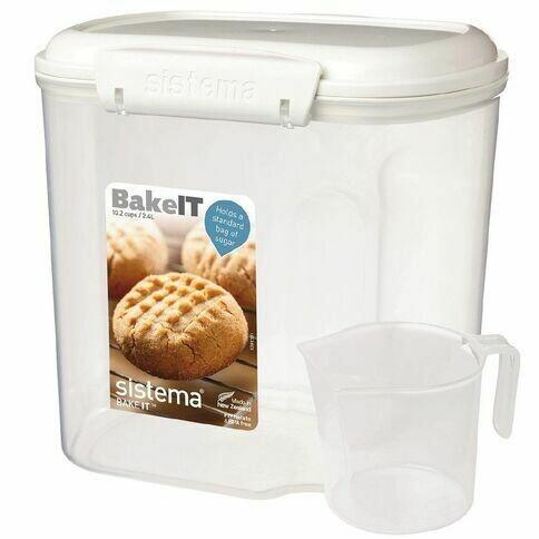 RECIPIENTE 2.4LT BAKEIT C/DOSIF 17.6X13.2X17.5CM SISTEMA