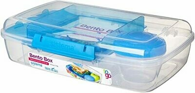 BENTO BOX TO GO 1.76LT C/MINI 27.4X17.7X8CM SISTEMA
