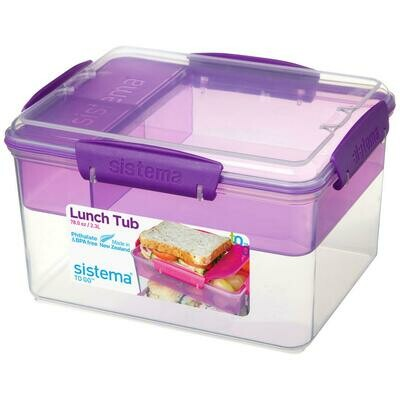 LUNCH TUB TO GO 2.3LT 19.7X15.8X11.5CM SISTEMA