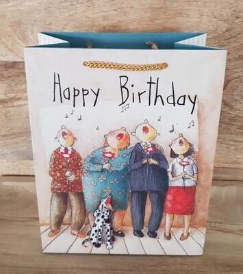 Papiertasche Happy Birthday im Chor