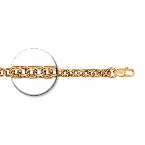 Браслет из золочёного серебра с алмазной гранью