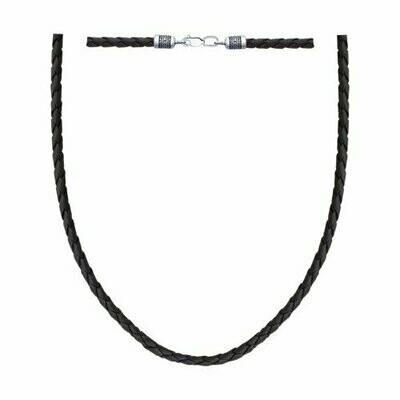 Шнур из чернёного серебра