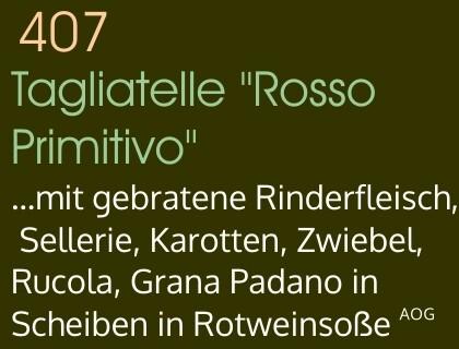 Tagliatelle Rosso Primitivo