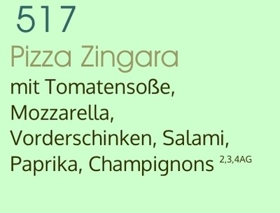 Pizza Zingara