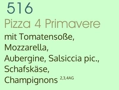 Pizza 4 Primavere