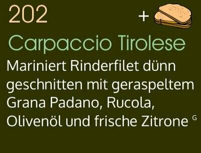 Carpaccio Tirolese