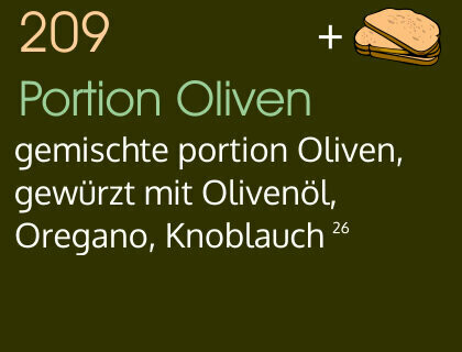 Portion Oliven