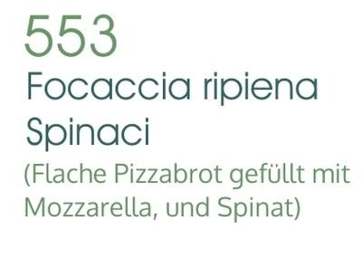 Focaccia Ripiena Spinaci