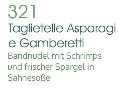 Tagliatelle Asparagi e Gamberetti