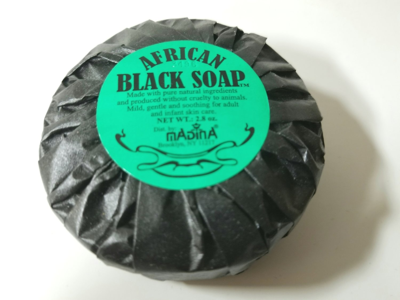 Madina- Round African Black Soap