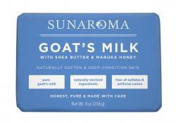 Sunaroma Soap-  Goat's Milk with Shea Butter & Manuka Honey