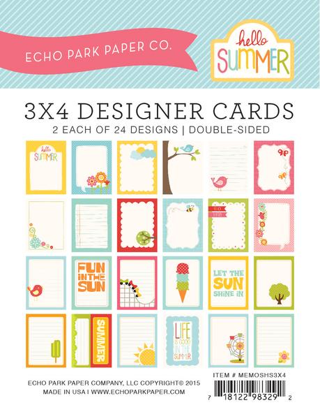 Echo Park designer cards 7.5x10см MEMOSHS