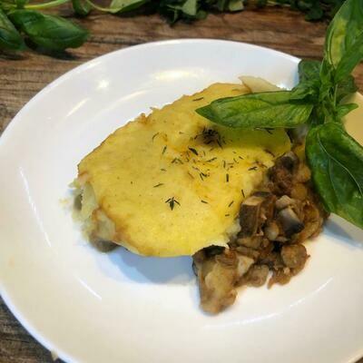 Mushroom & Lentil Cottage Pie (sold frozen)