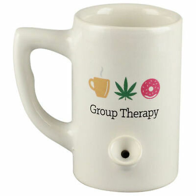 Ceramic Water Pipe Mug 8oz/Group Therapy