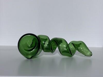 Corkscrew Glass Hand Pipe