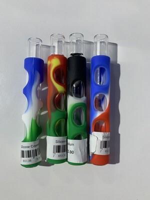 Silicone Covered Glass Chillum