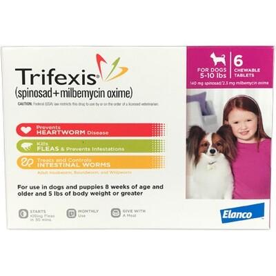 Trifexis 5-10lbs , 6pack ( $10 online Rebate)