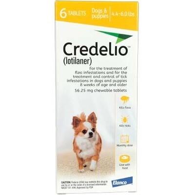 Credelio 4.4-6lbs , 6 pack ( $15 online rebate)