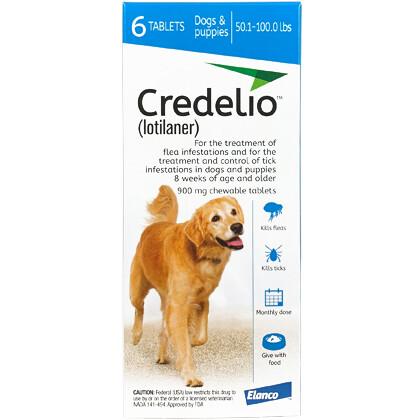 Credelio 50.1-100 lb, 6 pack ($15 online Rebate)