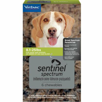 Sentinel Spectrum 8.1-25lbs, 6 pack ($7 online Rebate)