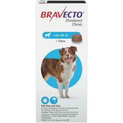 Bravecto 44-88lbs ($15 online rebate for 2)