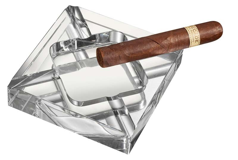 Visol Hyperion Square Crystal Cigar Ashtray