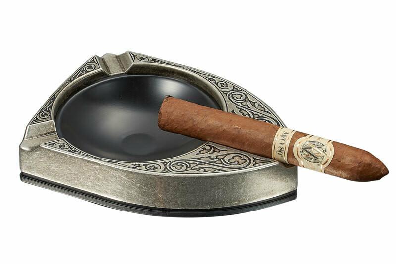 Visol Albion Matte Silver Cigar Ashtray