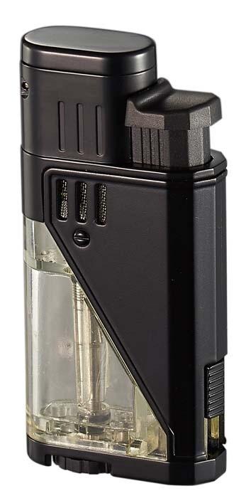 Visol Apollo Black Dual Torch Cigar Lighter