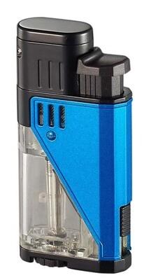 Visol Apollo Blue Dual Torch Cigar Lighter