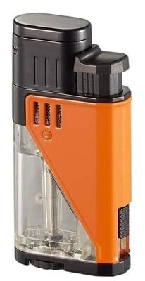 Visol Apollo Orange Dual Torch Cigar Lighter