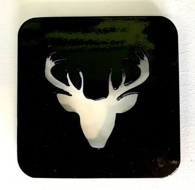 Buck Head Laser Cut Metal Coaster