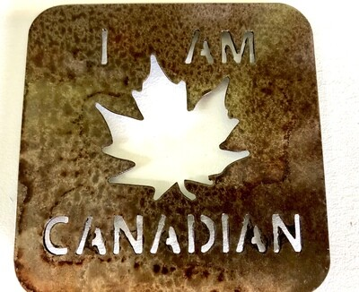 I Am Canadian Laser Cut Metal Coaster