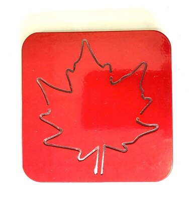 Maple Leaf Laser Cut Metal Coaster