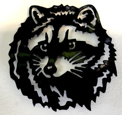 Raccoon Laser Cut Metal Coaster