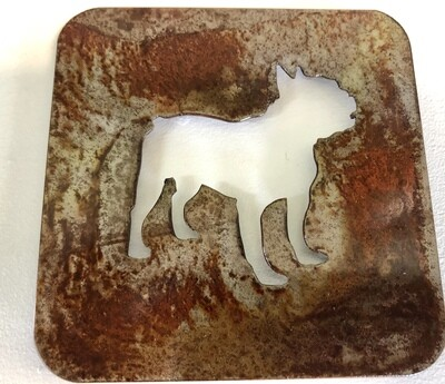French Bulldog Laser Cut Metal Coaster