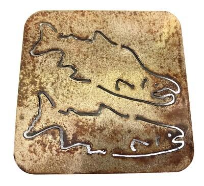 Salmon Laser Cut Coaster
