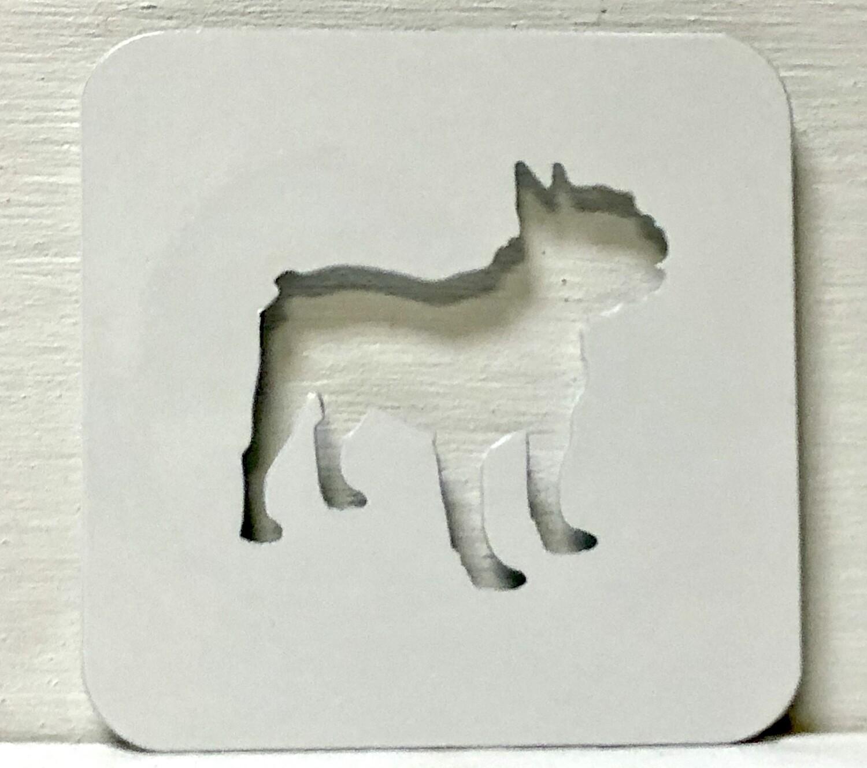 French Bulldog Laser Cut Metal Coaster
