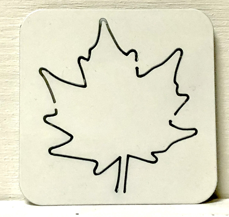 Maple Leaf Laser Cut Metal Coaster