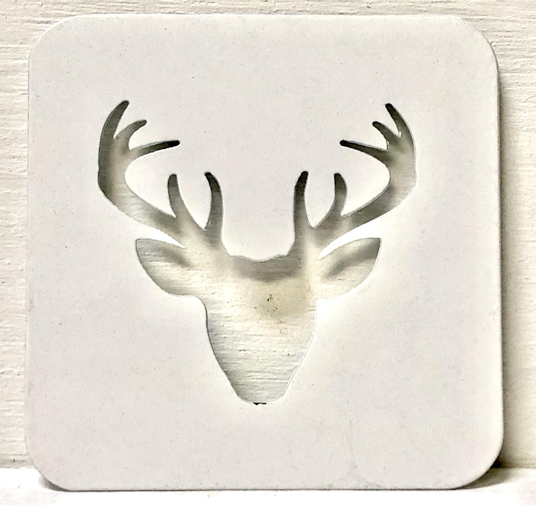 Buck Head Laser Cut Metal Coaster
