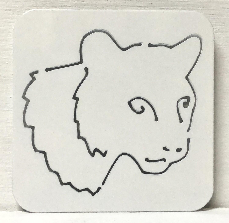 Cougar Laser Cut Coaster