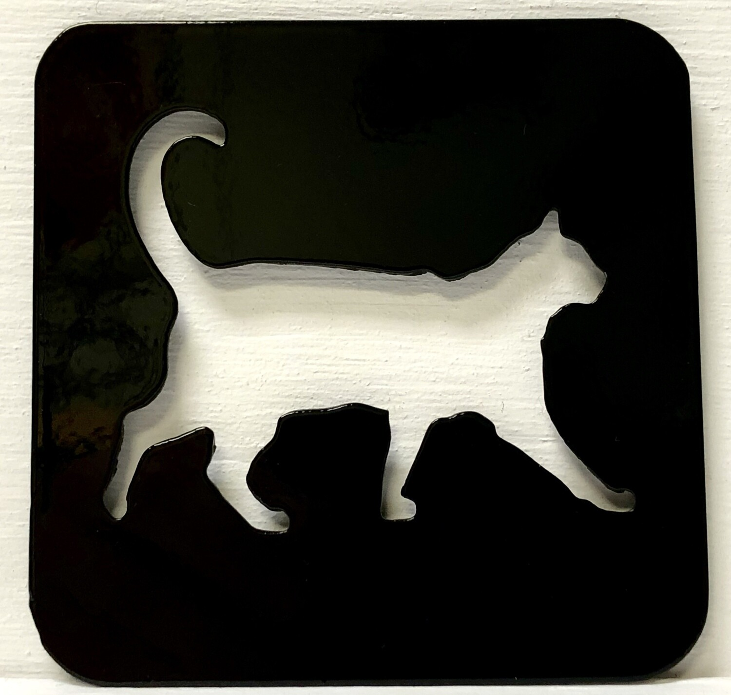 Laser Cut Cat Coaster