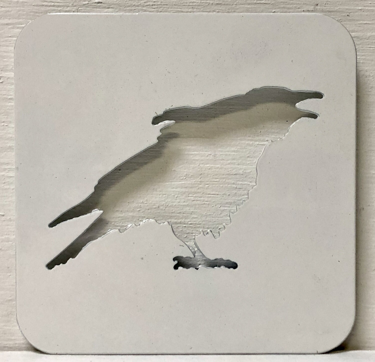Laser Cut Crow Coaster