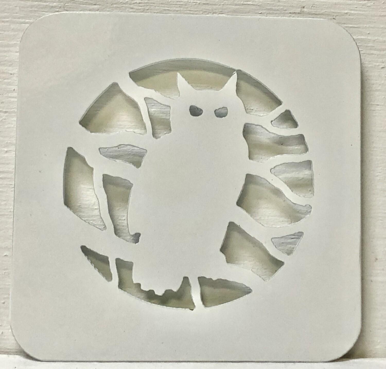Owl Laser Cut Metal Coaster