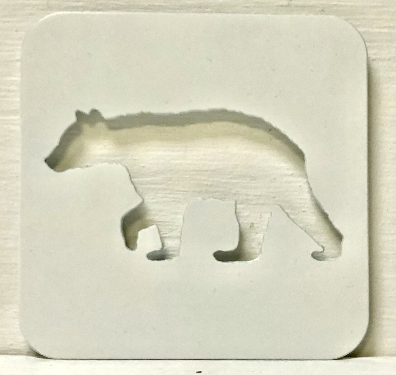 Laser Cut Bear Coaster