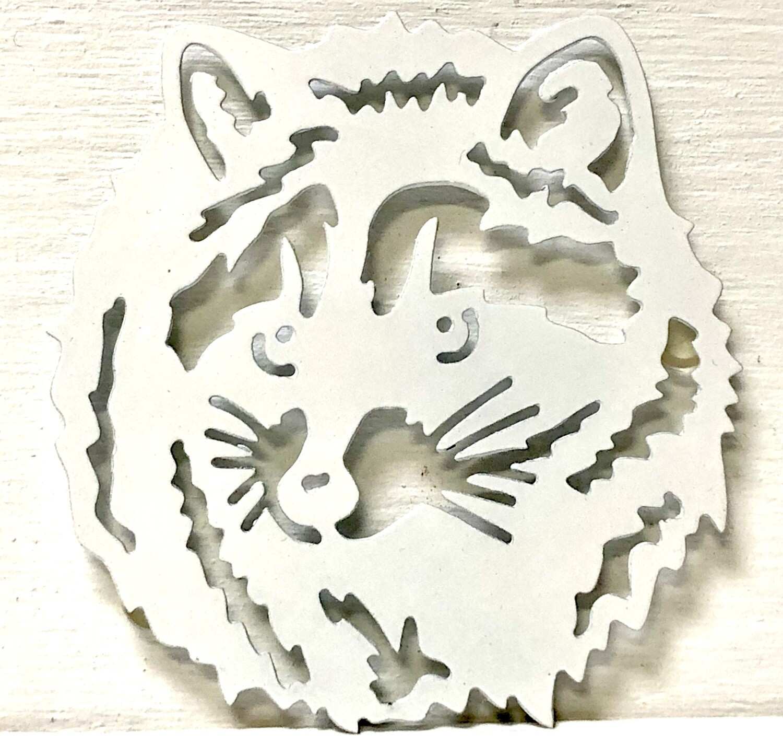 Raccoon Laser Cut Metal Coaster