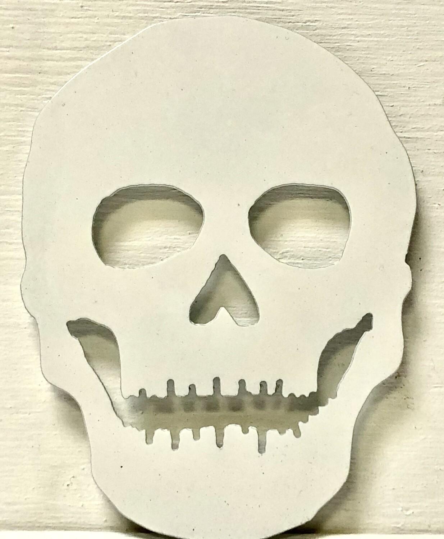 Skull Laser Cut Metal Coaster